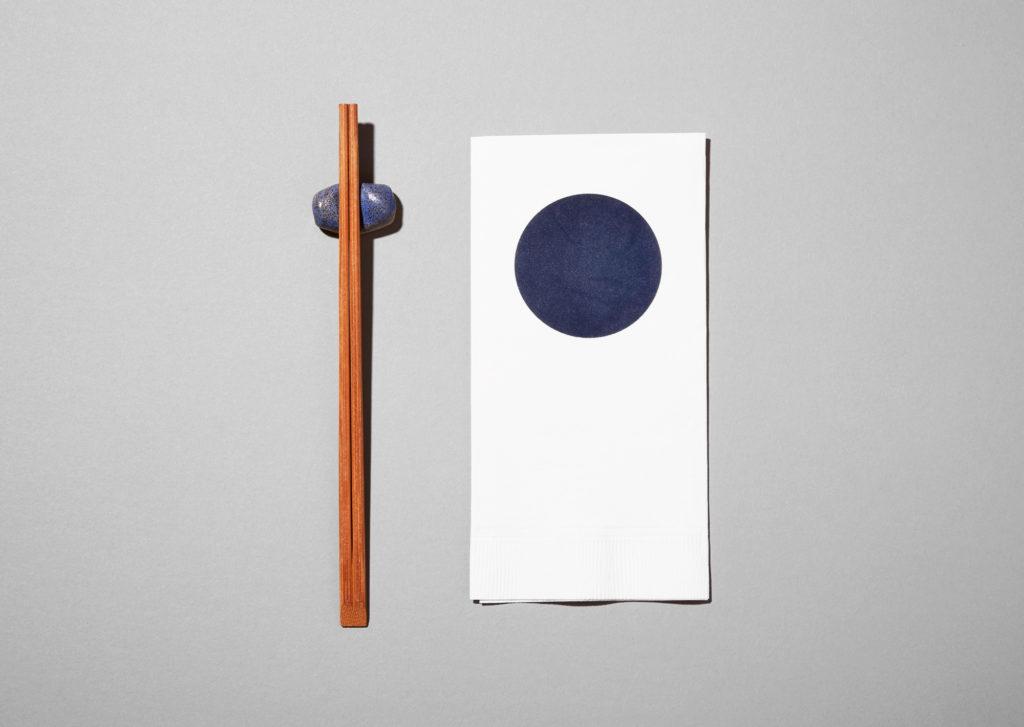 Tonchin takeout napkin and custom chopstick holder