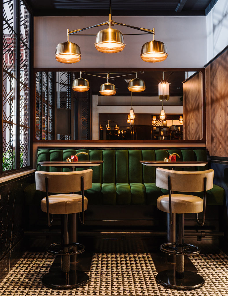 Banquette at The Trade Room