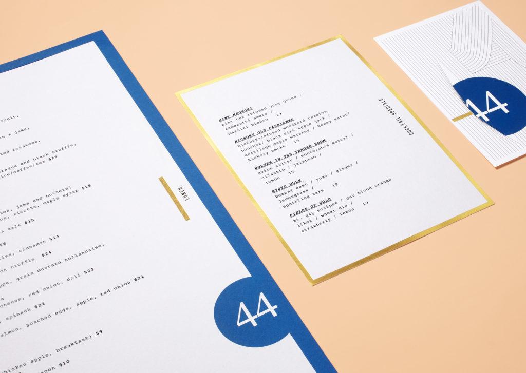 Forty Four menu suite