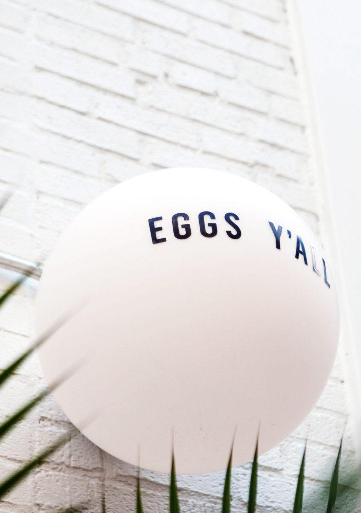 Egg Shop Williamsburg sign