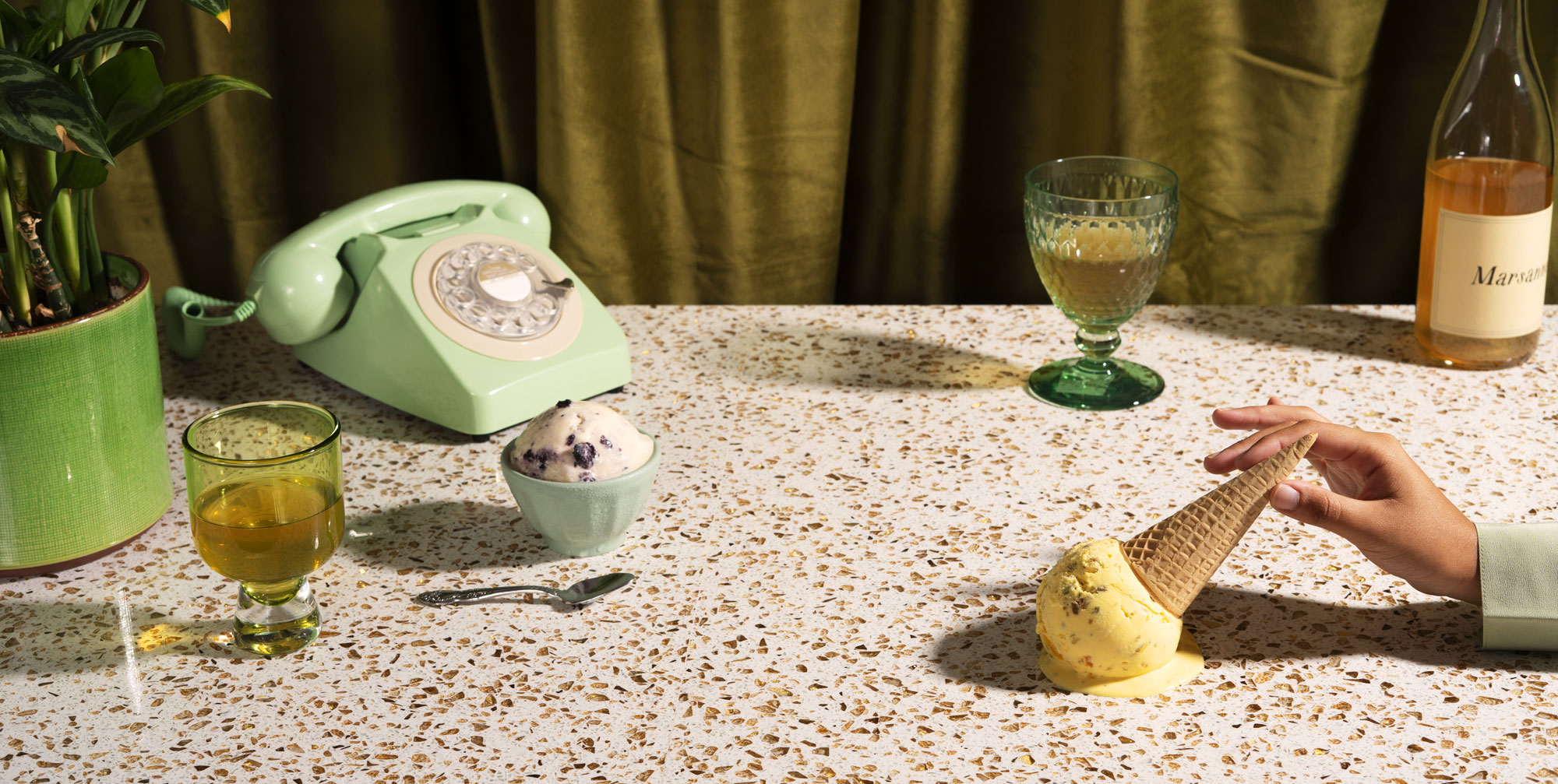 a still life featuring ice cream