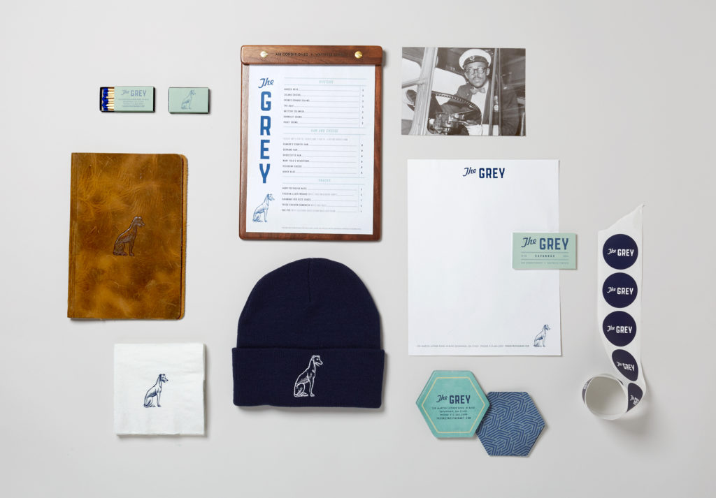 The Grey restaurant collateral suite